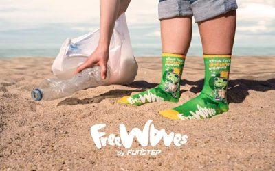 Calcetines fabricados a partir del plástico de los mares